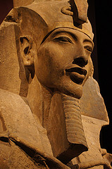 Colossal Statue of Amenhotep IV. Sandstone. Karnak, East Temple of Gempaaten. New Kingdom, 18th Dynasty, Reign of Akhenaten (circa 1372-1355 BCE).
