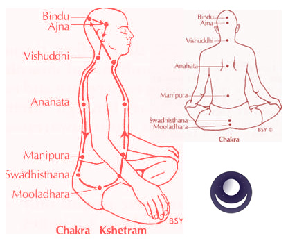 Chakra and Bindu Kshetrams, showing Bindu Varaga symbol.
