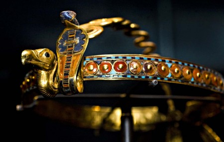 Inlaid Diadem with Vulture and Cobra.