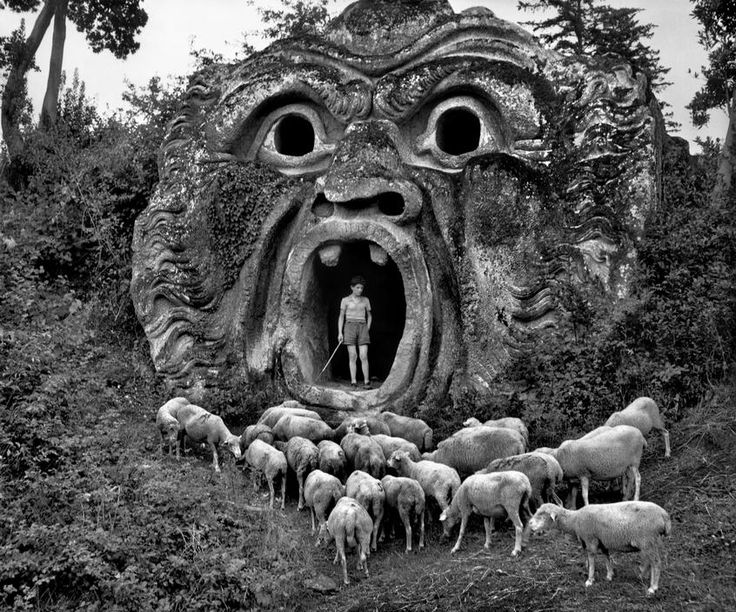 Orcus Mouth in Parco dei Mostri by Herbert List (1952)