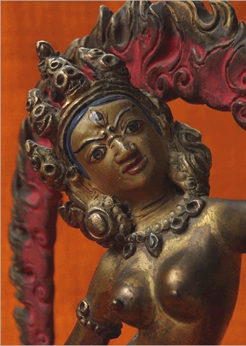 Statue of Vajrayogini, the enlightened Queen of the Dakinis. Nepal, 19th C or early 20th C. Credit: James Wainwright.