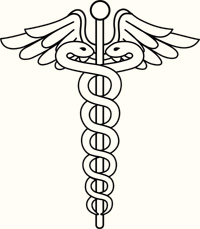 Caduceus, symbol of Hermes/Mercury; Azoth.