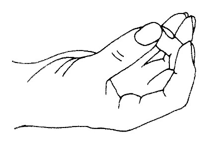Shuni Mudra. Image in the public domain.